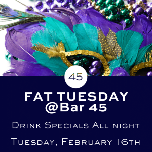 Fat Tuesday Party @ Bar 45 Gulf Shores