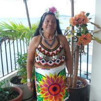 Our teacher of Emberá language, Elsa Carpio.