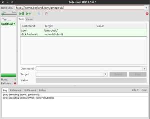 Selenium IDE Add-on Playback