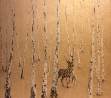Stag in Bircheood by Jacqueline Byrne