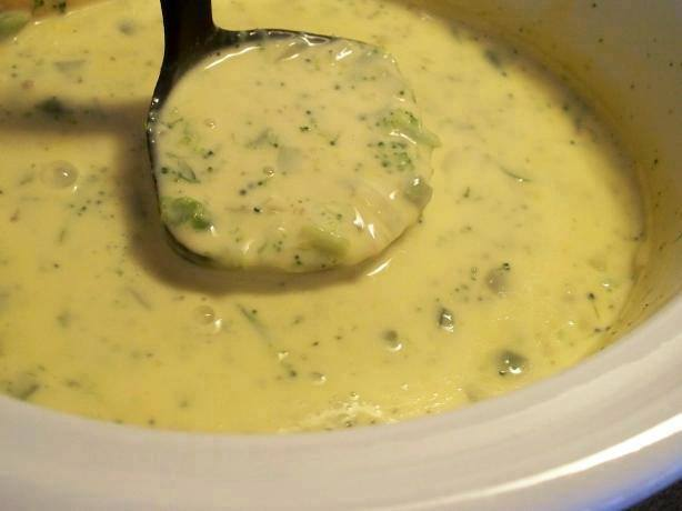 Crock Pot Broccoli and Cheese Soup