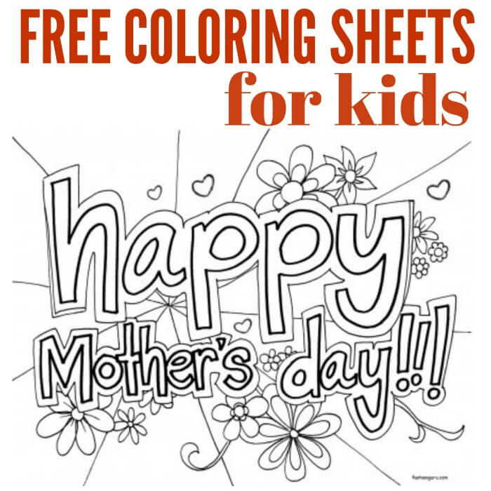 Printable Cute Mothers Day Coloring Pages Novocom Top