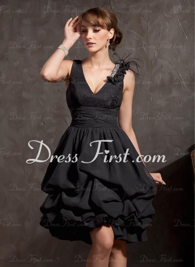 little black dress poufy
