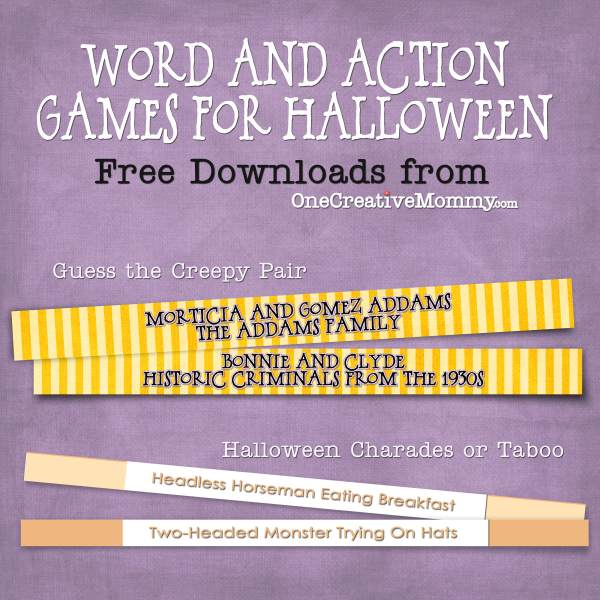 free halloween party games printables # 6