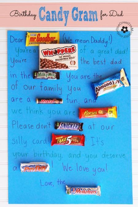 Birthday Candy Gram For Dad