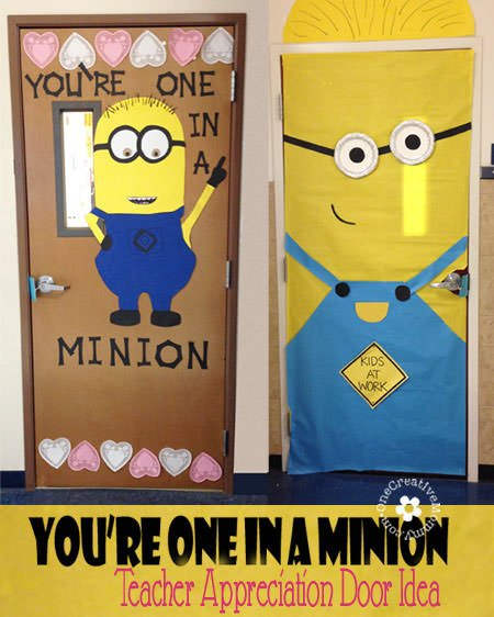 One In A Minion Teacher Door Idea