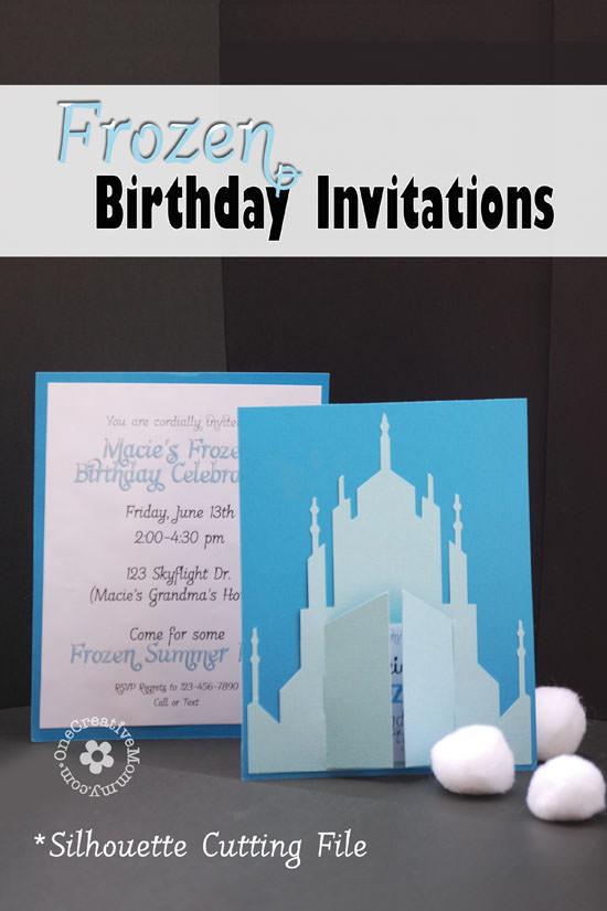 frozen birthday invitations 2 designs