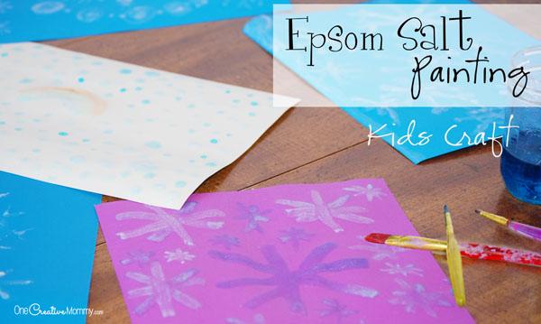 Cool Epsom Salt Painting Craft