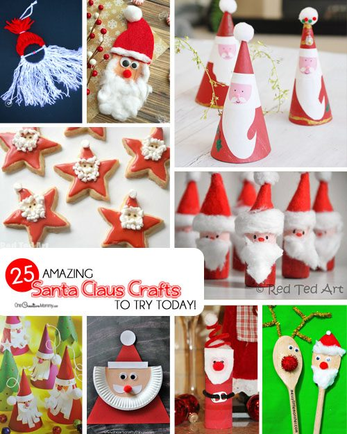 25 Amazing Santa Kids Crafts To Try Right Now