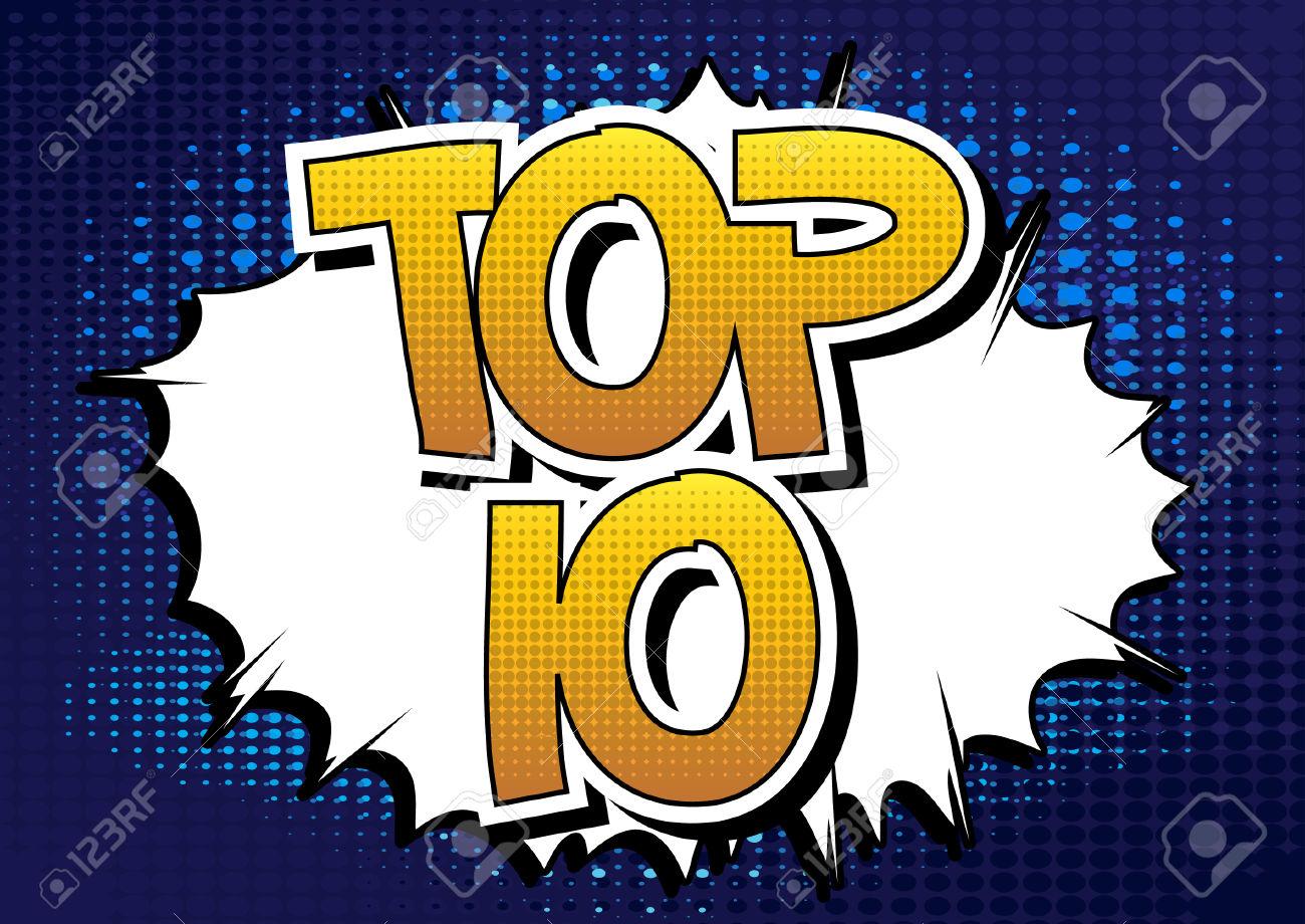 Top 10 - Comic book style word.