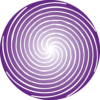 single purple spiral