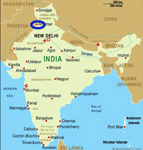 Map Amritsar