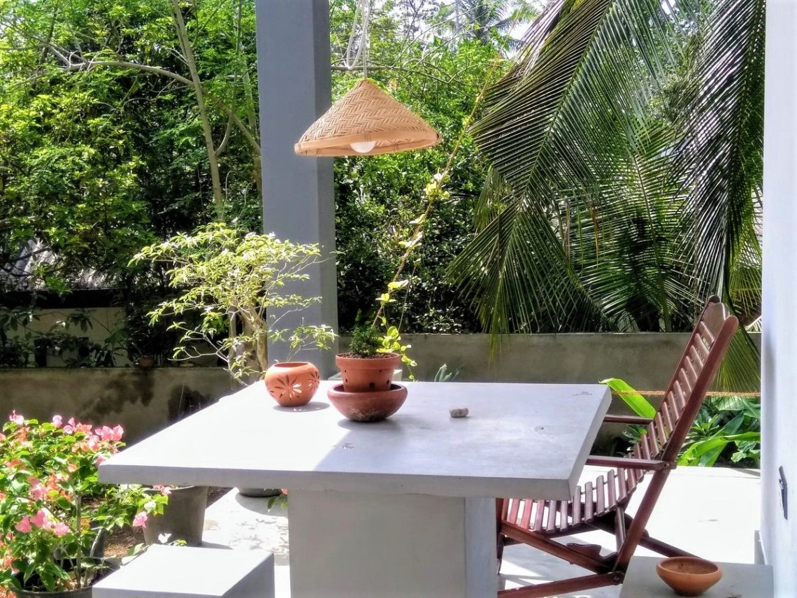 terrasse villa hikkaduwa