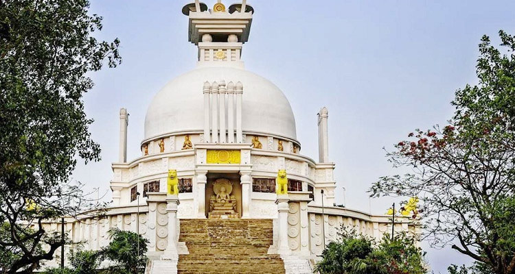 One Day Bhubaneswar Local Sightseeing Trip by Car Dhauli Buddhist Monastery