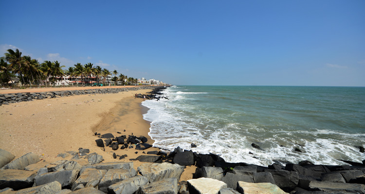 One Day Chennai to Pondicherry Trip by Car Promenade Beach