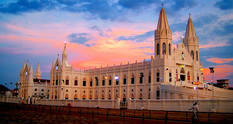 One Day Chennai to Velankanni Trip by Car Basilica of Our Lady of Good Health