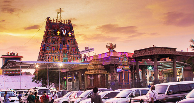 1 Day Coimbatore to Thrissur and Guruvayur Tour by Cab Parthasarathy Temple