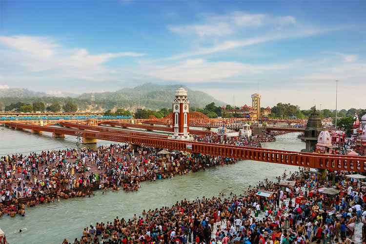 Har Ki Pauri Ghat with One Day Delhi to Haridward and Rishikesh Sightseeing Trip