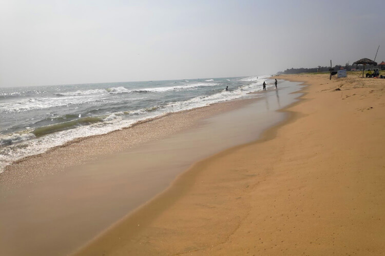 Visit Paradise Beach with 1 Day Chennai to Mahabalipuram & Pondicherry Trip by Cab