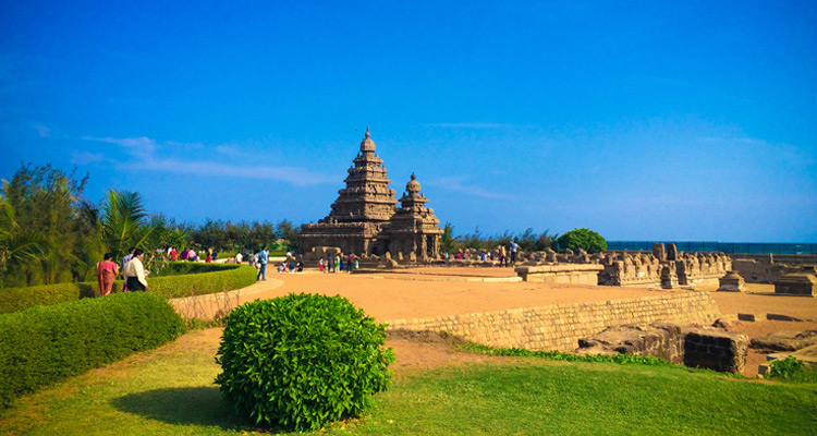 1 Day Chennai to Mahabalipuram Tour by Cab Mahabalipuram Seashore Temple