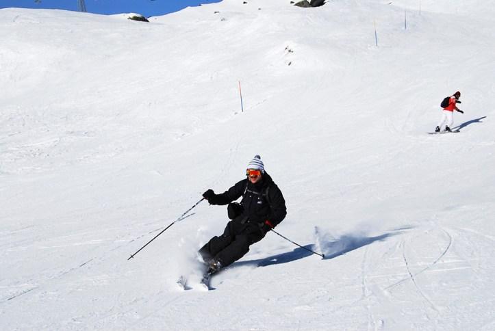 Skiing in Crans Montana