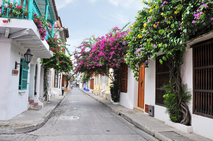 Colonial architecture in Old Town Cartagena