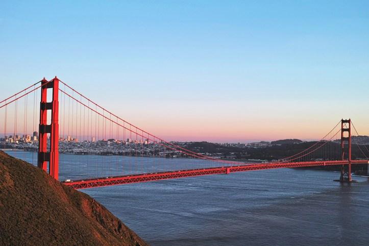 Golden Gate Bridge in Dusk, San Francisco