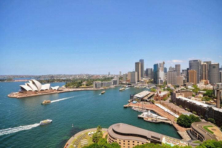 Sydney as seen from the Sydney Harbour Bridge