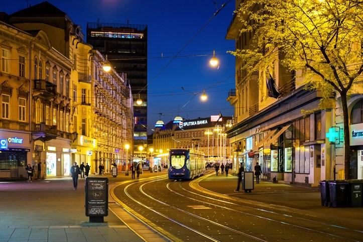 Zagreb at night