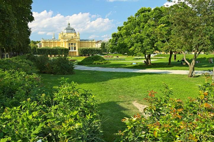Zrinjevac Park in Zagreb