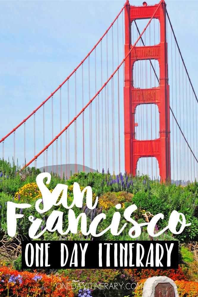 San Francisco California One day itinerary