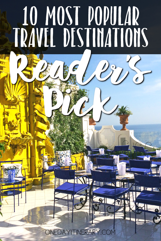 10 Most Popular Travel Destinations - Reader's Pick