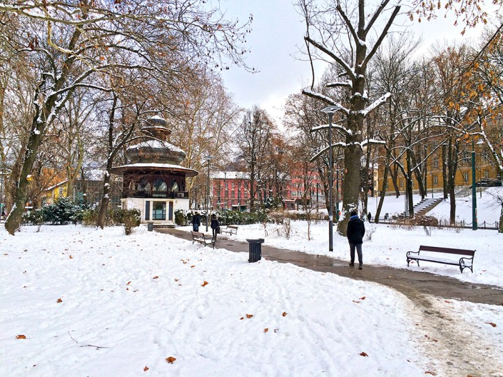 At Mejdan park in Sarajevo