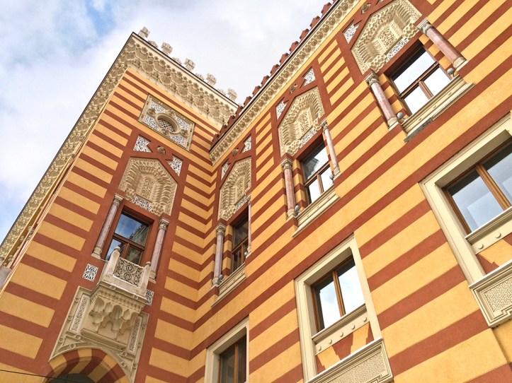 City Hall in Sarajevo Facade