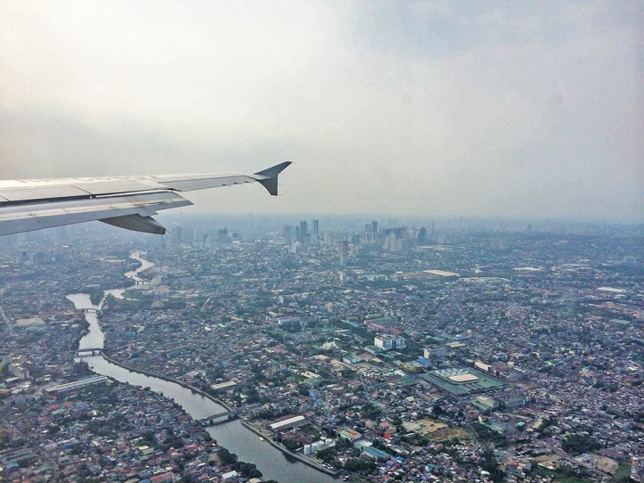 Manila from the airplane