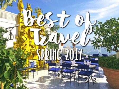 Most Popular Travel Destinations 2017 Spring