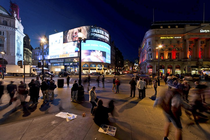 Piccadily Circus at Night, London