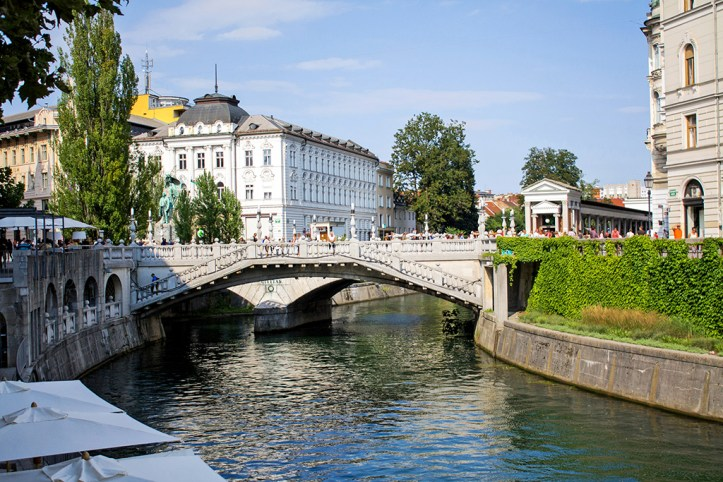 Triple Bridge and River Ljubljanica, Ljubljana