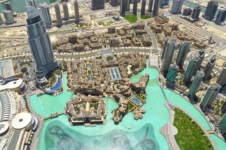 View from Burj Khalifa, Dubai