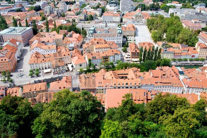 View from the castle, Ljubljana