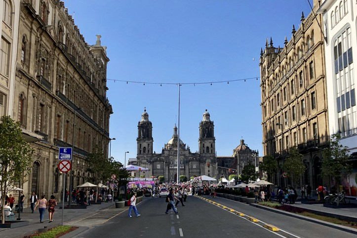 View toward the Zocalo and Cathedral