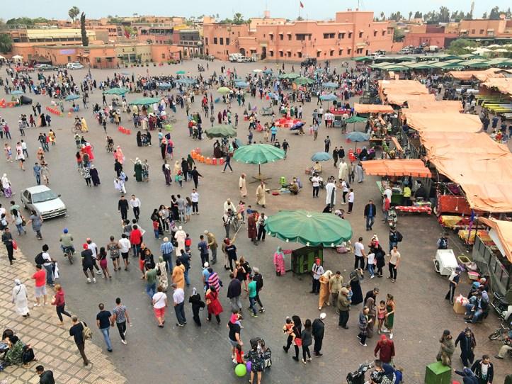 Jemaa El Fna square in Marrakesh