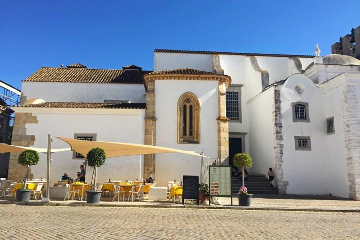 Outside Cafe Terraces, Faro