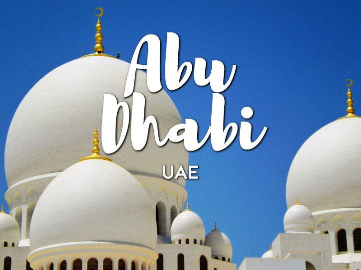 One day in Abu Dhabi Itinerary
