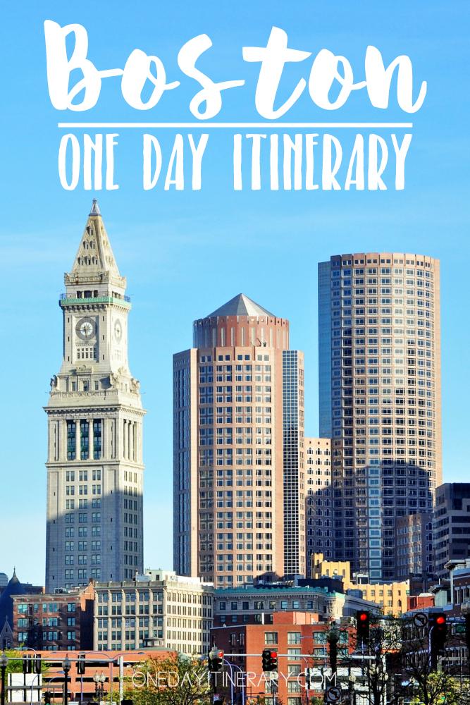 Boston USA One day itinerary
