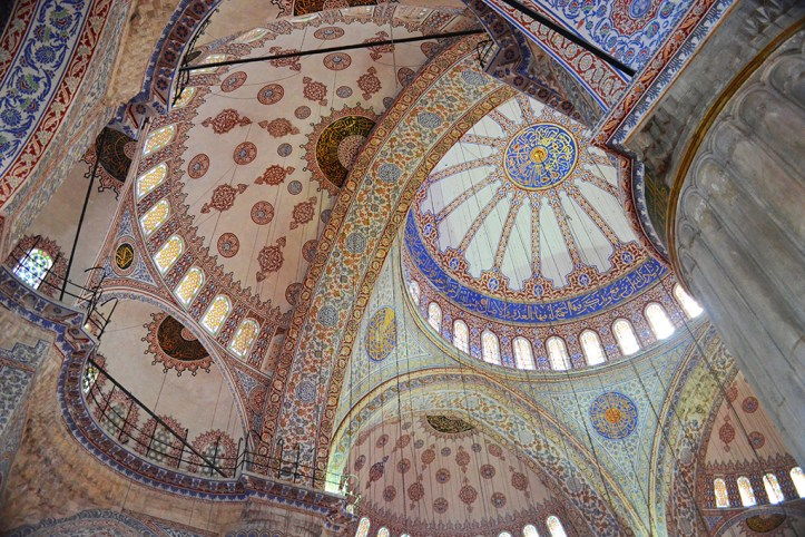 Inside of the Blue Mosque, Istanbul