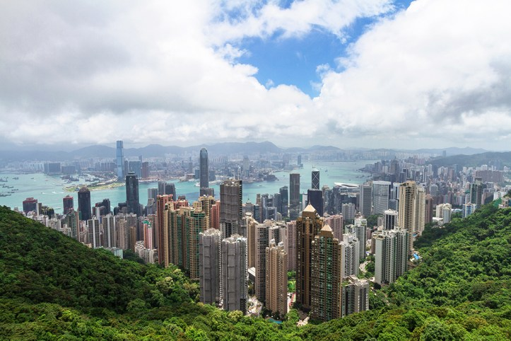 Hong Kong skyline as seen from Victoria Peak