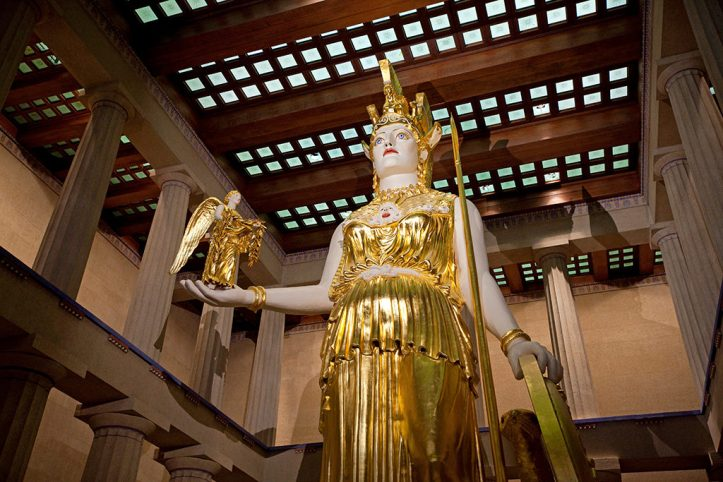 Athena Statue in Parthenon