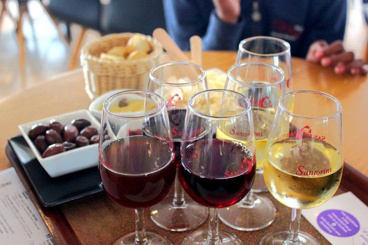 Santo winery tasting