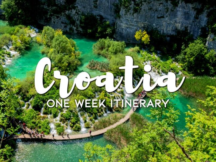 One week in Croatia itinerary